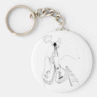 Cubist Guitars Basic Round Button Key Ring