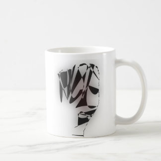 cubist head coffee mug