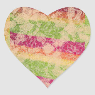Cubist Roses Heart Sticker