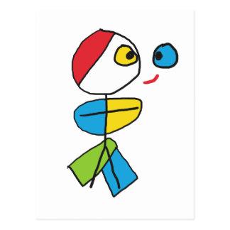Cubist Stickman Postcard