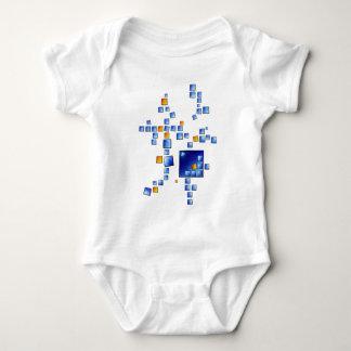 Cublerossia V1 - falling cubes Baby Bodysuit