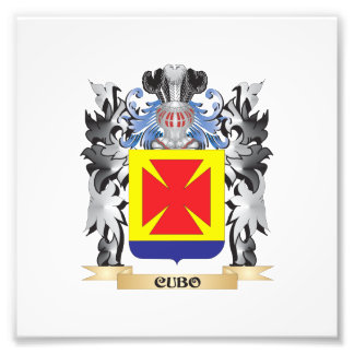 Cubo Coat of Arms - Family Crest Photographic Print