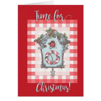Cuckoo clock Christmas Card