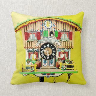 Cuckoo Clock Throw Pillow