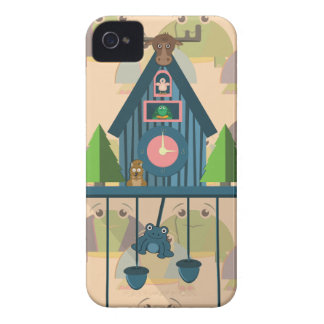 Cuckoo Clock with Turtle Wall paper Case-Mate iPhone 4 Case