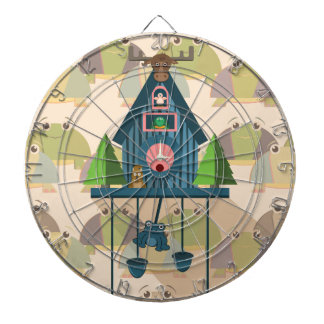 Cuckoo Clock with Turtle Wall paper Dartboard