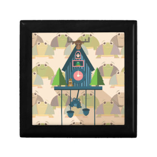 Cuckoo Clock with Turtle Wall paper Gift Box