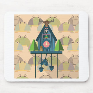 Cuckoo Clock with Turtle Wall paper Mouse Pad