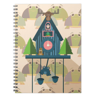 Cuckoo Clock with Turtle Wall paper Notebooks
