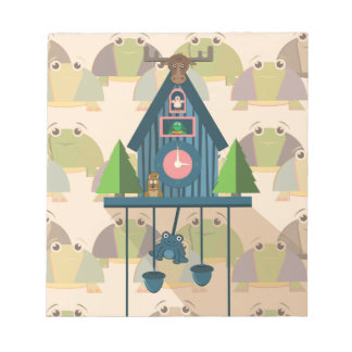 Cuckoo Clock with Turtle Wall paper Notepad