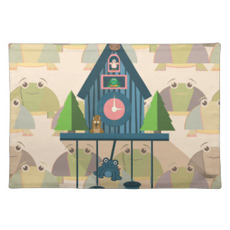 Cuckoo Clock with Turtle Wall paper Placemat