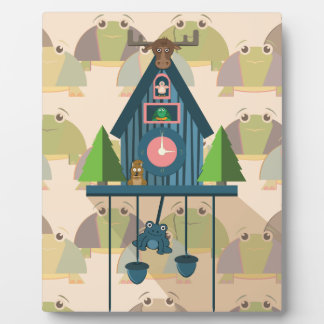 Cuckoo Clock with Turtle Wall paper Plaque