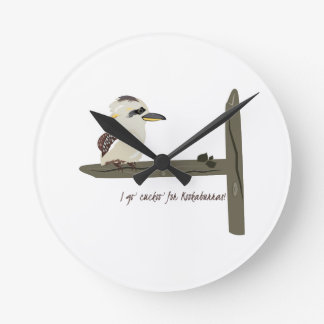 Cuckoo Kookaburra Round Clocks