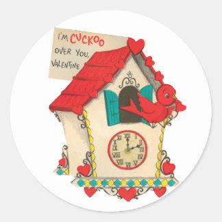 Cuckoo Over You | Valentine | Round Stickers