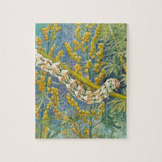 Cucullia Absinthii Caterpillar Jigsaw Puzzle