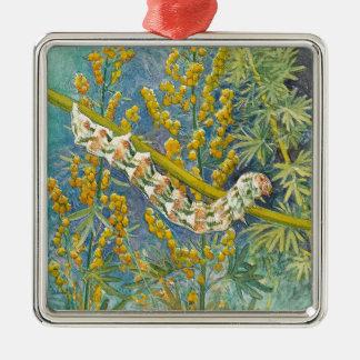 Cucullia Absinthii Caterpillar Metal Ornament