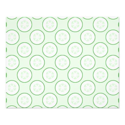Cucumber Polka Dot Pattern. Full Color Flyer