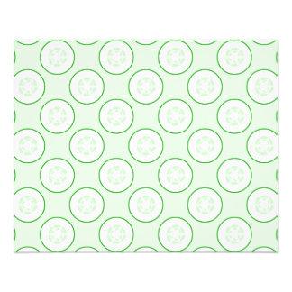 Cucumber Polka Dot Pattern Full Color Flyer