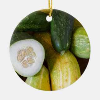 Cucumber Seeds Ceramic Ornament