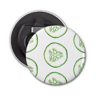 Cucumber slices pattern bottle opener
