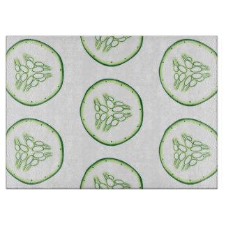 Cucumber slices pattern cutting board