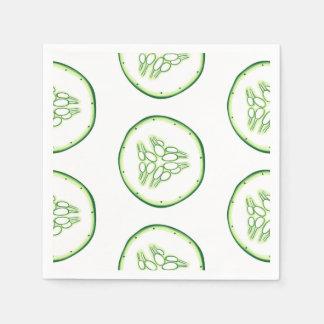 Cucumber slices pattern disposable serviette