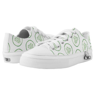 Cucumber slices pattern low tops