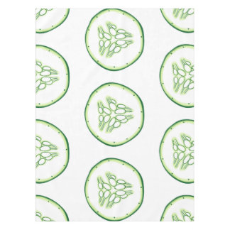 Cucumber slices pattern tablecloth