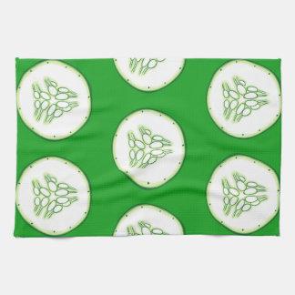 Cucumber slices pattern towel