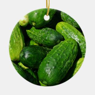 cucumbers pile ceramic ornament