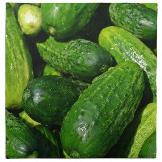cucumbers pile napkin