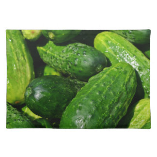 cucumbers pile placemat