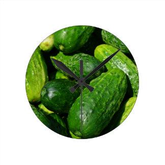 cucumbers pile round clock