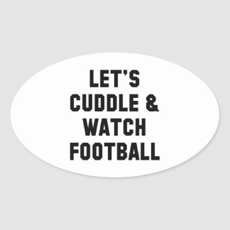 Cuddle And Football Oval Sticker