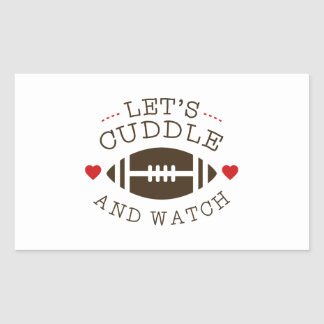 Cuddle And Football Rectangular Sticker