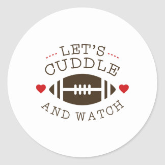 Cuddle And Football Round Sticker