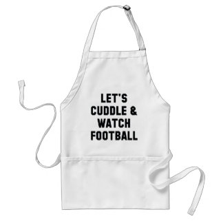 Cuddle And Football Standard Apron
