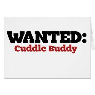 Cuddle Buddy Wanted Card
