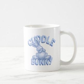 Cuddle Bunny -blue Basic White Mug