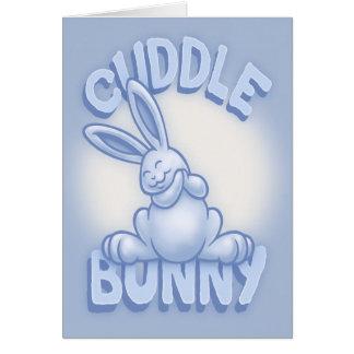 Cuddle Bunny -blue Greeting Card