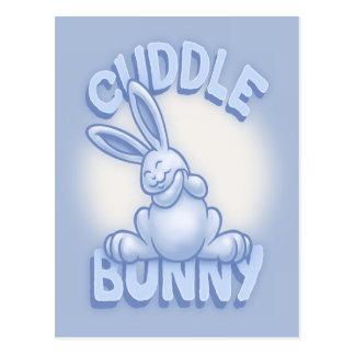 Cuddle Bunny -blue Postcard