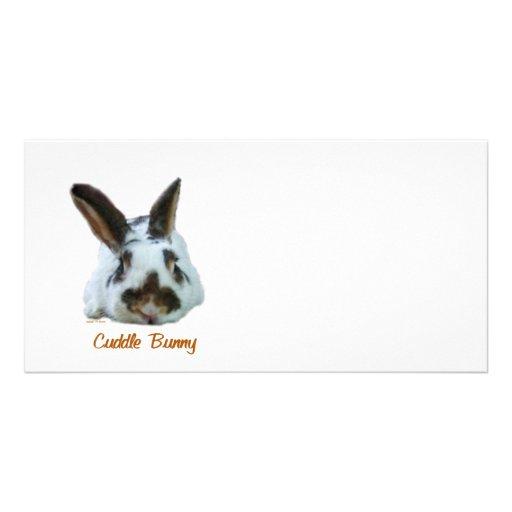 Cuddle Bunny Photo Card Template