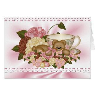 Cuddle Creek® Tea Time Teddy Greeting Card