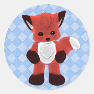 Cuddle Fox Toon Sticker