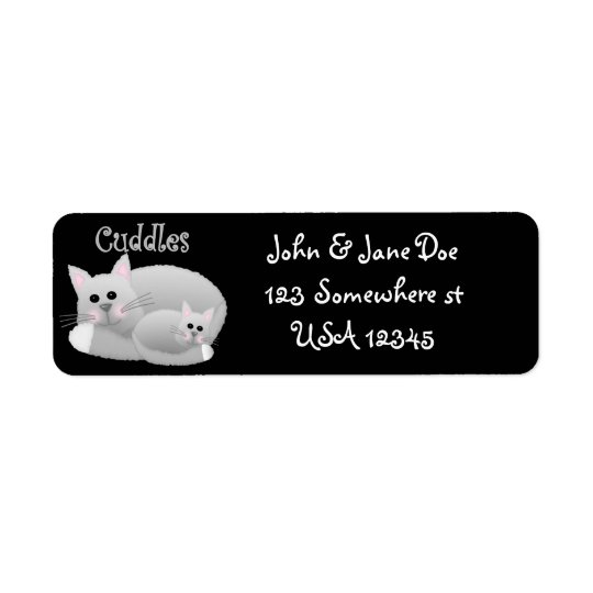 Cuddle Kitties Return Address Label