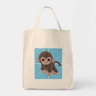 Cuddle Monkey Diaper Tote Bag