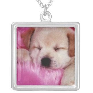 Cuddle Sleepy Puppy Necklace