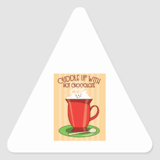 Cuddle Up With Hot Chocolate Triangle Sticker