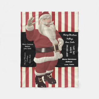 Cuddle With Santa Personalized From Santa Fleece Blanket