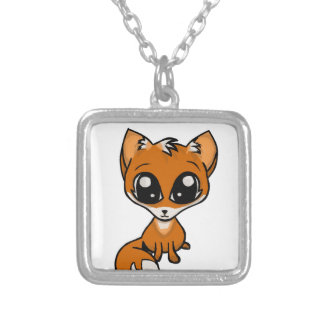 Cuddles Pls! Fox Silver Plated Necklace